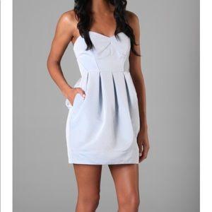 Shoshanna Strapless Dress With Tulip Skirt